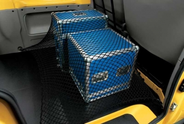 Luggage net for the trunk floor
