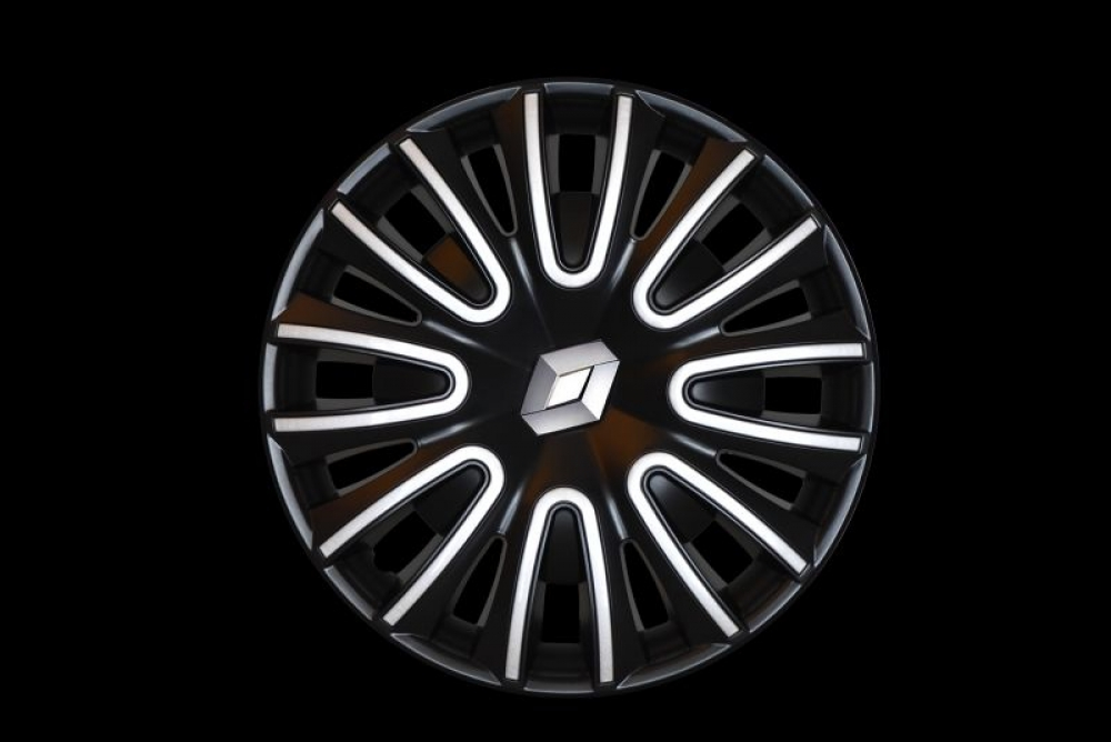 Wheel cover with Renault logo (black-gray)