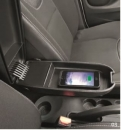 "Center armrest with loading function ""textile black"""