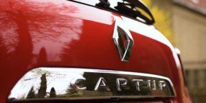 Renault Captur Schriftzug am Heck
